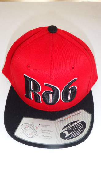 čepice Snapback red/black